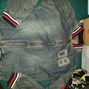 Lee pipes jean jacket XL